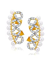 Sukkhi Attractive Gold And Rhodium Plated CZ Earcuff For Women