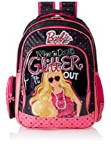 Barbie Pink and Black Children's Backpack (EI-MAT0029)