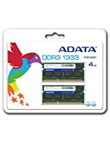 ADATA Premier Series DDR3 1333Mhz 4 GB Kit 2 x 2 GB CL9 Dual Channel Laptop Memory AD3S1333C2G9-2
