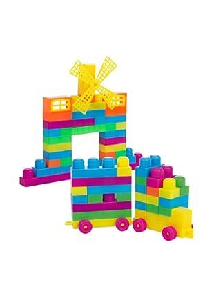 Kidzcorner Bote de construcción 107 piezas