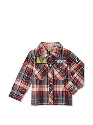 Monster Republic Boy's Wilderness Snap-Front Shirt (Plaid Red)