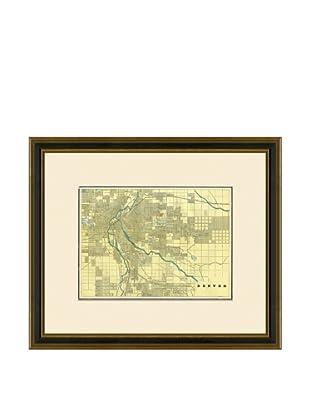 Antique Lithographic Map of Denver, 1883-1903