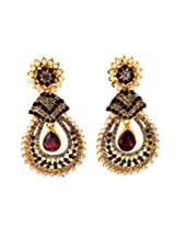 Aabhushan Jewels Gold-Plated Dangle & Drop Earings For Women ( Gold )