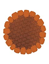 Heritage Lace 58-Inch Pumpkin Table Topper, Round, Orange