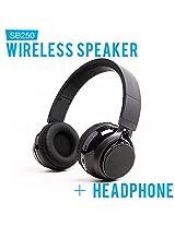 Soundbot SB250 Wireless/Wired Bluetooth Headset + Speaker - Black