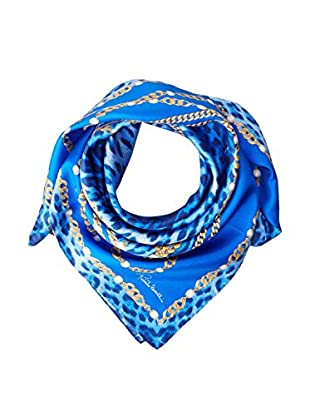 Roberto Cavalli Fular  Azul 90 x 90 cm