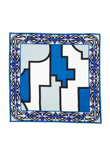 Emilio Pucci Women's Geometric Square Scarf (Sky Blue)