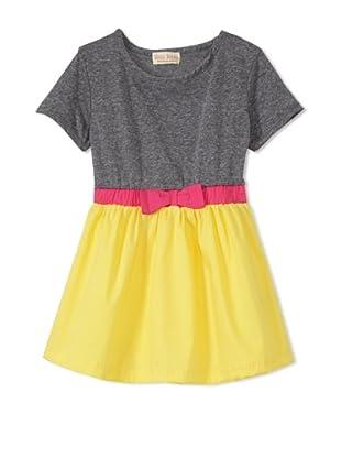 Upper School Girl's 2-fer Dress (Yellow/Gray)