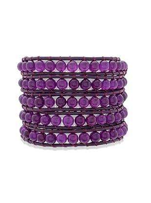 Lucie & Jade Echtleder-Armband Amethyst violett