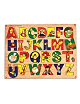 Skillofun Picture on Alphabet Tray with Knobs, Multi Color