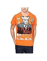 IV PL@Y Men's T-Shirt Red orange,Small