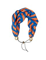 Blue and Orange Wide Bandana Headband Head Wrap