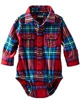 OshKosh B'gosh Baby Boys' Woven Bodysuit (Baby) - Red - 18 Months
