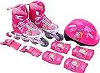 Barbie Adjustable Inline Skate Combo Set, Pink