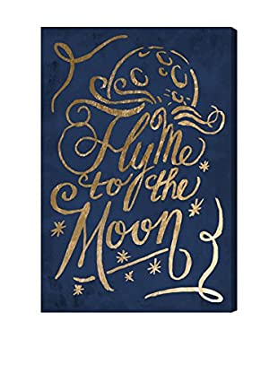 Oliver Gal 'To The Moon Navy' Canvas Art