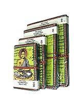 R S Jewels Handmade Paper Printed Buddha Diary NotePad 4 Pcs Set DRY-0212