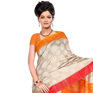 Designer Bhagalpuri Silk Printed Saree - HLY106279ARM