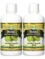Dynamic Health Noni Juice, Tahitian Morinda Citrifolia, 32 Ounces (Pack of 2)