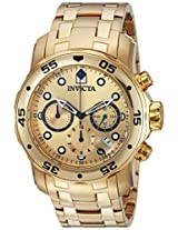 Invicta Pro-Diver Analog Gold Dial Men's Watch - 74