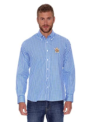 Polo Club Camisa Fitted (Azul)