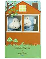 Angel Dear Cuddle Twin Set, Bright Blue Monkey