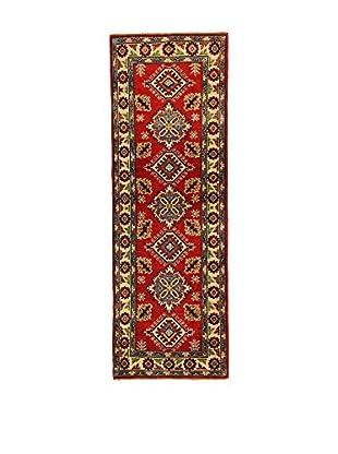 L'EDEN DEL TAPPETO Alfombra Uzebekistan Super Rojo/Multicolor 60 x 184 cm