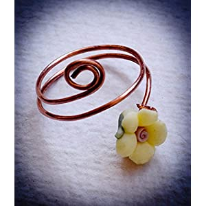 Saakar Copper Wire Ring Yellow