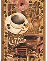 Caf Jigsaw Puzzle Printed On Quality Cork Board, 500 Pieces, 14in X 19in, Made In Italy