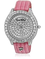 H Ph13577Js/04A Pink/Silver Analog Watch Paris Hilton