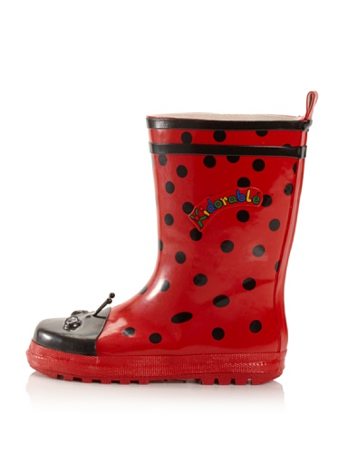 Kidorable Ladybug Rain Boot (Toddler/Little Kid) (Red)