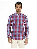 London Fog Men's Casual Shirt (8907174017501_Blue_Large)
