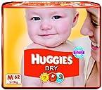Huggies Dry Diapers Medium Size (62 Count)