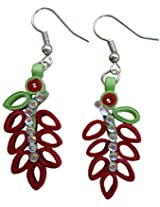 Designer's Collection Paper Quilling Ear Rings for Women-DSERC016