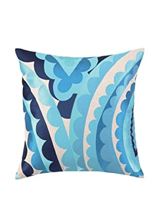 Trina Turk Vivacious Embroidered Pillow (Blue)
