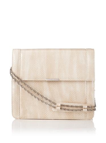 Jason Wu Women's Structured Snakeprint Shoulder Bag, Beige