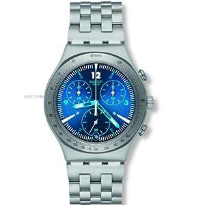 Swatch Rhythmic Blue YCS575G Chronograph Watch - For Men