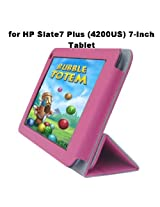 HP Slate 7 Plus (4200US) 7-Inch Tablet Custom Fit Portfolio Leather Case Cover with Built In Stand- Pink