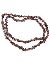 925-Silver Garnet Rope Gemstone Necklace