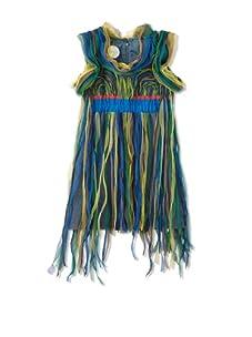 kicokids Girl's Cascade Fringe Butterfly Dress (Surf)