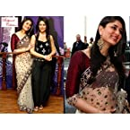 Bollywood Collection Sober Off White Color Net Saree With Maroon Unstiched Blouse