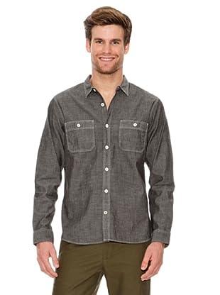 Dockers Camisa de Chambray con Bolsillos (gris oscuro)