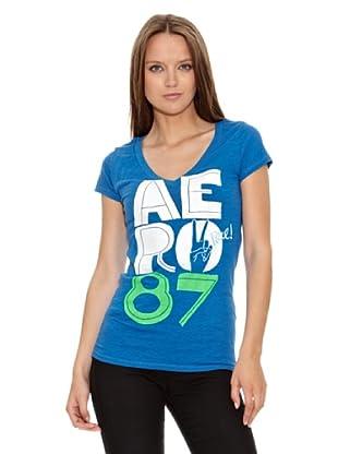 Aeropostale Camiseta Aero (Azul)