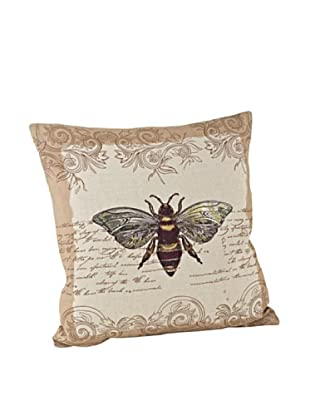 Saro Lifestyle Natural Bumble Bee Pillow