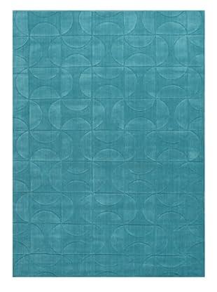 Jaipur Rugs Handmade Looped & Cut Solid Rug (Blue)
