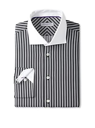 Without Prejudice Men's Multi Stripe Shirt (Black)