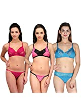 Urbaano Multi NOIVA Bridal Set - URM0910T - Purple ,Black , Blue (34)