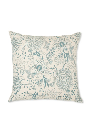 Handmade Interiors Naar Large Hand Screen Pillow Cover, Duck Egg Blue