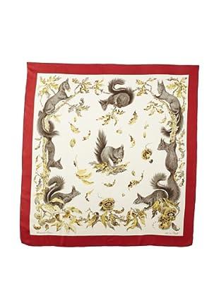 Hermès Women's Poret Squirrel Scarf, Burgundy