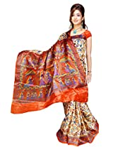 Somya Silk Saree(147Dno025_Orange)