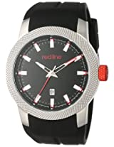 red line Men's RL-10016-01 Gauge Analog Display Japanese Quartz Black Watch